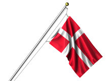 Isolated Danish Flag Royalty Free Stock Images