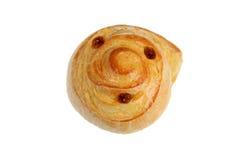 Isolated danish pie with raisins. Vietnam royalty free stock photo
