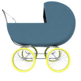 Isolated dark blue baby carriage Stock Image