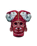 Isolated Dark Ethnic Mask Sculpture Stock Image