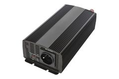 Isolated DC to AC power inverter for car and solar panel. royalty free stock photography