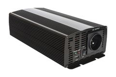Isolated DC to AC power inverter for car and solar panel. stock image