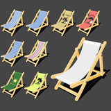 Isolated deck chair Royalty Free Stock Photography