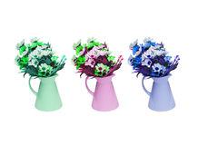 Isolated decorated artificial flowers Royalty Free Stock Photo