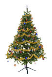 Isolated decorated christmas tree Royalty Free Stock Photo