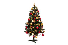 Isolated decorated christmas tree Royalty Free Stock Photography