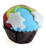 Isolated decorated cup cake Royalty Free Stock Photos