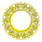 Isolated decorated golden baroque  frame Stock Images