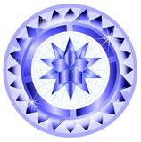 Isolated decorated shield with star Royalty Free Stock Photos