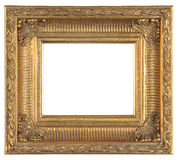 Isolated decorative bronze frame Stock Photo