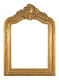 Isolated decorative bronze frame Royalty Free Stock Images