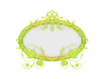 Isolated decorative golden frame Stock Images
