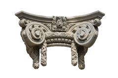 Isolated Decorative Ionic Column Capital Stock Photos