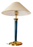 Isolated decorative table lamp. An isolated decoractive table lamp with a coloum stem Stock Photo