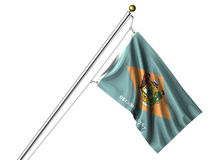Isolated Delaware Flag Royalty Free Stock Photos