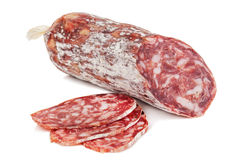 Isolated delicious salami Royalty Free Stock Image