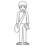 Isolated delivery man cartoon design Royalty Free Stock Photo