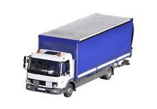 Isolated delivery truck stock photography