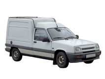 Isolated delivery van Stock Image
