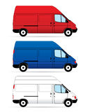 Isolated Delivery Vans Stock Photo