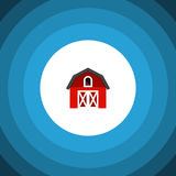 Isolated Depot Flat Icon. Hangar Vector Element Can Be Used For Depot, Barn, Hangar Design Concept.  Isolated Depot Flat Icon Stock Photography