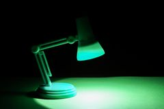 Isolated Desk lamp Stock Image