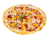 Isolated dessert food the sweet pizza stock photos