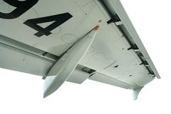 Isolated detail airliner wing Stock Images