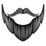 Isolated detailed beard stock illustration