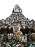 Isolated Details of Pagoda Wat Arun , Bangkok Royalty Free Stock Image