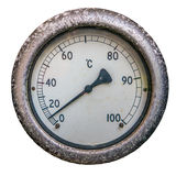 Isolated Dial Thermometer Stock Photography