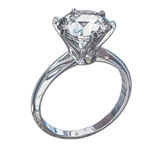 Isolated Diamond Ring Illustration Royalty Free Stock Photography