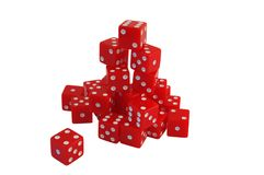 Isolated dice over white Stock Photo