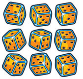 Isolated Dice set Royalty Free Stock Photos