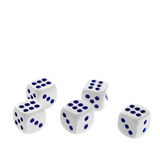 Isolated dices Royalty Free Stock Photos