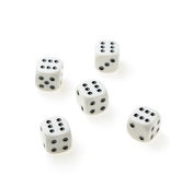 Isolated dices Stock Photo