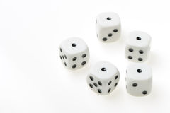 Isolated dices Royalty Free Stock Image