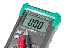 Isolated digital multimeter and probes Stock Photography