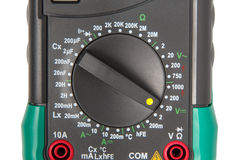 Isolated digital multimeter selector Royalty Free Stock Photography