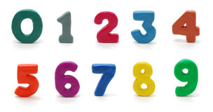 Isolated Digits 0 to 9 Stock Photo