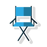 Isolated directors chair design. Cinema directors chair icon. Movie video media and entertainment theme. Isolated design. Vector illustration Royalty Free Stock Photos