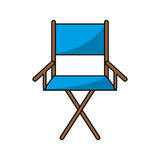 Isolated directors chair design. Cinema directors chair icon. Movie video media and entertainment theme. Isolated design. Vector illustration Stock Photography