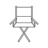 Isolated directors chair design. Cinema directors chair icon. Movie video media and entertainment theme. Isolated design. Vector illustration Stock Image