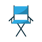 Isolated directors chair design. Cinema directors chair icon. Movie video media and entertainment theme. Isolated design. Vector illustration Royalty Free Stock Photo