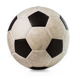 Isolated Dirty Soccer Ball Stock Photography