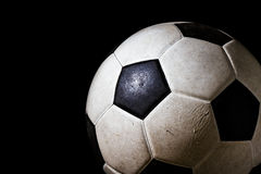 Isolated dirty soccer ball Stock Images