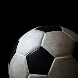 Isolated dirty soccer ball Stock Photos