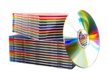 Isolated discs Stock Photography