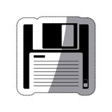 Isolated diskette design Stock Images