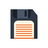 Isolated diskette technology design Stock Images